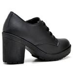 Bota Feminina Ankle Boot Top Franca Shoes Preto Fosco