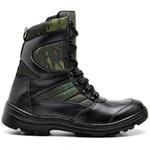 Bota Coturno Militar Tatico Top Franca Shoes Preto / Camuflado