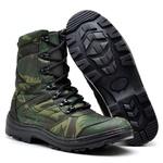 Bota Coturno Militar Tatico Top Franca Shoes Camuflado