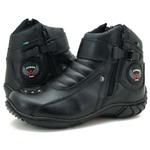 Bota Coturno Motociclista Unisex Atron Shoes Preto Tamanhos Especiais 33 a 46