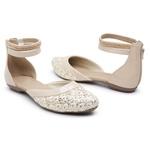 Sandália Sapatilha Mule Feminina Top Franca Shoes Marfim