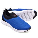 Kit 2 Tênis Masculino Esporte Fit Snap Shoes Preto / Azul