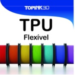 Filamento Flexivel - 1.75mm - 500grs - Preto
