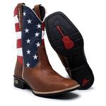 Bota Country Cano Alto Masculina Bandeira USA