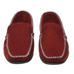 Sapato Mocassim Masculino Bordô Vermelho Torani