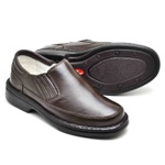 Sapato Casual Confortável Masculino Couro de Carneiro Marrom