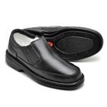 Sapato Casual Confortável Masculino Couro de Carneiro Preto