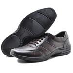 Sapato Casual Masculino Confortável Couro de Carneiro Marrom