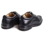 Sapato Casual Preto Masculino Confortável Rafarillo com Amortecedor