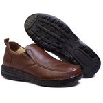 Sapato Masculino Couro Marrom Confortável