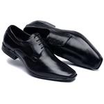 Sapato Social Cadarço Masculino Couro Preto