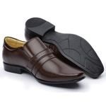 Sapato Social Couro de Carneiro Marrom Masculino Confortável
