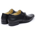 Sapato Social Couro de Carneiro Preto Masculino Confortável