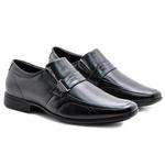 Sapato Social Masculino Couro Preto de Carneiro Pipper