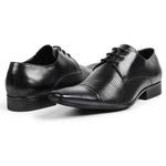 Sapato Social Masculino Couro Legítimo Preto