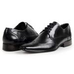 Sapato Social Oxford Masculino Couro Legítimo Preto