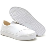 Tênis Branco Feminino Calce Fácil Torani