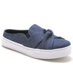 Tênis Mule Azul Jeans Laço Feminino Torani