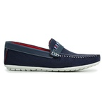 Sapato Mocassim Azul Masculino Torani