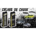 Jogo Calhas de Chuva Corsa Hatch/Sedan/Wagon 1996 a 2002 Classic 2003 a 2016 4 Portas Fumê