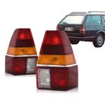 Lanterna Traseira Quantum 1985 a 1990 Tricolor C/Friso Cromado