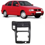 Moldura DVD 1 Din Polo Classic/ Seat Cordoba/ van Volkswagen 1997 a 2000 (Preto)