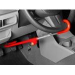 Trava Automotiva Antifurto Volante/ Pedal/ Freio ( Vermelha )