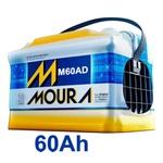 Bateria Automotiva Moura 60Ah Selada (Polo Positivo Direito)