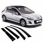 Calha de Chuva Peugeot 308 2012 a 2018 Fumê Jg