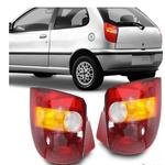 Lanterna Traseira Palio 1996 a 2000 Tricolor Base Vermelha