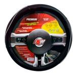 Capa para volante universal preto c/ friso branco- Linha Premium - SW