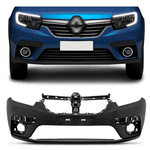 Parachoque Dinateiro Renault Logan/Sandero 2019 a 2021 Preto Liso (DTS)