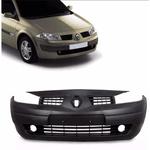 Parachoque Dianteiro Renault Megane 2007 a 2011 Com Grade Preto Liso