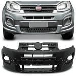 Para-Choque Dianteiro Fiat Uno 2016 a 2021 Modelo Drive - Preto Liso