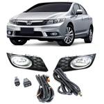 Farol de Milha Honda Civic 2012 a 2014 Kit C/ Botão Modelo original
