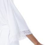 Hobby Homewear branco com renda