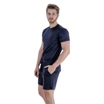 Pijama Homewear H.A. curto preto gola redonda