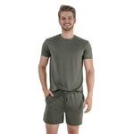 Pijama Homewear H.A. curto militar gola redonda