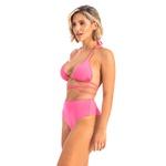 Conj. de biquíni rosa Pink argola c/ hot pants