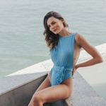 Body/maiô Jully Blue Cavado