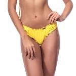 Calcinha Empina Bumbum Basic Amarelo Lateral Plissada