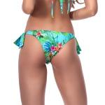 Calcinha Laiara empina bumbum floral tropical