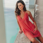 Saída Liz Dress Telinha Coral