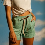 Short jogger concha verde menta