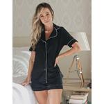 Pijama Homewear Short e Camisa Preto