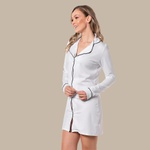 Chemise Homewear c/ botões Branca
