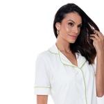 Pijama Homewear Colors Short e Camisa Off/Lima