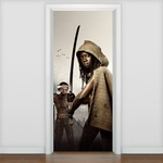 Adesivo De Porta Serie The Walking Dead 04 Michonne