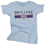 Camisa Feminina Azul Bebe True LoveCAMISETA FEM. AZUL BEBE SILK TRUE LOVE