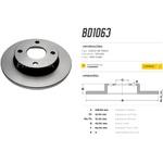 Par de Disco de freio dianteiro Courier, Fiesta e Ka. Disco solido diametro 239,5 e 04 furos